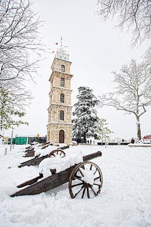 En Bursa y Bursa la nieve es ideal para el invierno