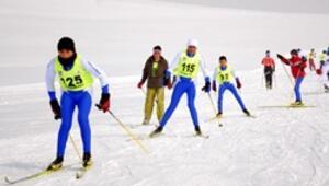 Kayaklı koşuda 2 madalya