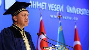 Erdoğan Kazakistanda konuştu