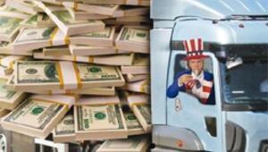 Sam Amca'dan Yunanistan'a kamyonla para