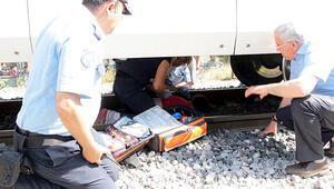 Trenin önüne atlayarak intihar etmek istedi