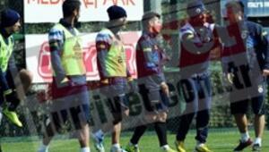 Fenerbahçe idmanında ortalık karıştı