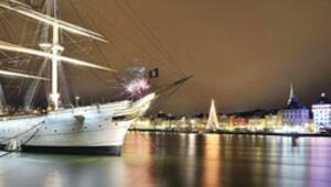 Yeni yılda Stockholm'ün ışıkları hiç sönmez