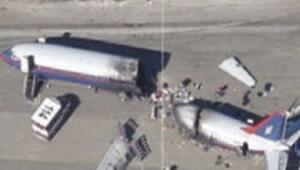 Google Earthte düşen uçak paniği