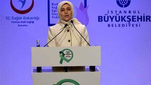 Sare Davutoğlu rahim ağzı kanseri sempozyumunda konuştu