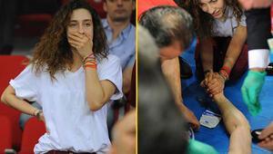 Galatasaraylı yıldızın başına 7 dikiş atıldı