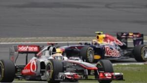 Vettel'in evinde Hamilton güldü