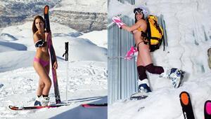 Kayakçının üstsüz pozları Lübnanı karıştırdı