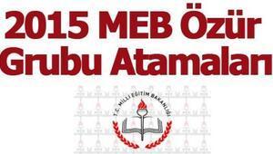 MEB özür grubu atama tarihleri açıklandı 2015 MEB özür grubu atama kılavuzu