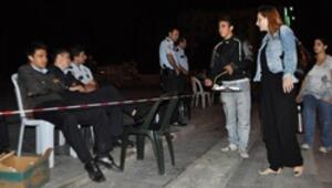 Polis eylemcinin çayını geri çevirdi