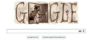 Franz Kafkaya doodlelı kutlama