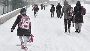 Öğrencinin karla imtihanı