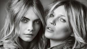Kate Moss ve Cara Delevingneilk kez bir arada poz verdi