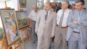 Kursiyerlerden yağlı boya resim sergisi