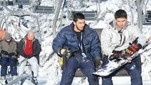 Uludağ'da kar çok boş yer az
