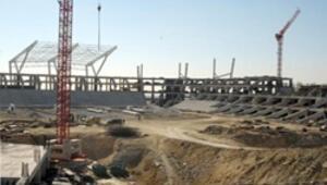 Akdeniz Oyunları stadyumuna icra tesbiti