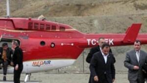 Yazıcıoğlunun helikopteri düştü