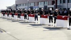 Şehit 8 polis için Malatyada tören