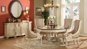Yuvarlak masa yemek odaları