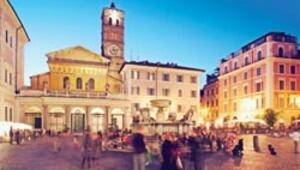 Trastevere'de her pazar şenliktir