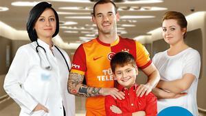 Sneijder sağlık projesi yüzü oldu
