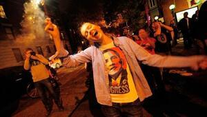 Photo Ed: Jubilant celebrations around the U.S. for Obamas win