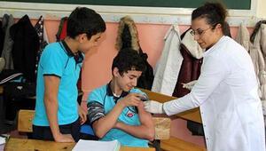 Yozgat'ta öğrenciler aşılandı