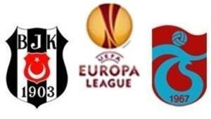 Trabzonspor PSVye Beşiktaş Mendese karşı