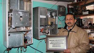 Giresunlu tamirci, LPG ile çalışan kombi yaptı