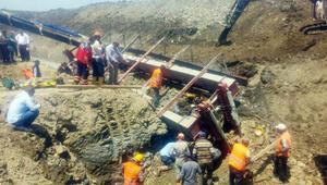 Edirnedeki baraj inşaatında feci kaza