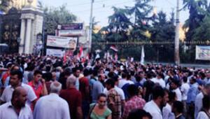 Taksimde Mısır protestosu