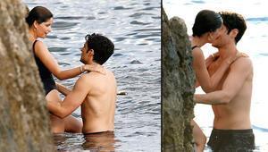Model Laetitia Casta yeni sevgilisi Louis Garrel ile tatilde