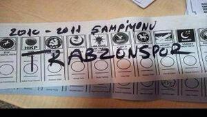 Trabzonspor taraftarlarından oy tepkisi