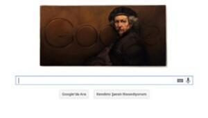 Rembrandt van Rijnin doğumgünü doodle ile kutlanıyor