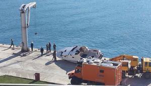Ölüm teknesi karaya çekildi