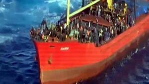 Kaçak göçmen taşıyan Türk gemisi Barış Girit açıklarına çekildi