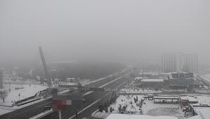 Başkent'i sis bastı