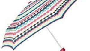 Makyaj çantasına gözlük kılıfına sığacak kadar küçük şemsiyeler var
