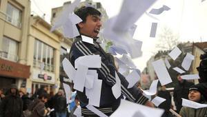 CHPden yolsuzluk protestosu