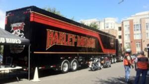 Harley Davidson'ın dev tırı İstanbulda
