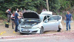 Otomobilde kadın ve erkek cesedi