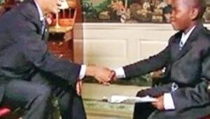 Küçük muhabir Obama'yı terletti