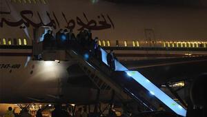 Fas kralı 5 uçakla Türkiyeye geldi