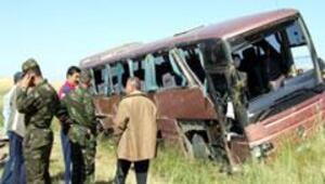 Yolcu otobüsü devrildi: 1 ölü, 29 yaralı