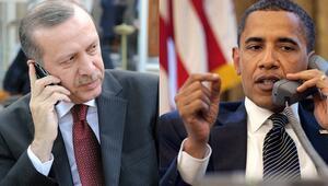 Erdoğan ve Obamadan 60 dakikalık telefon zirvesi