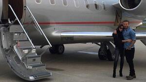 Doğum günü için özel uçakla...