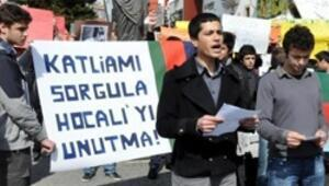 Hocalı katliamına dev protesto