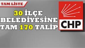 CHPde genelge adayları