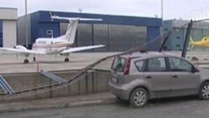 Pilot uçağın gazına yüklenince...