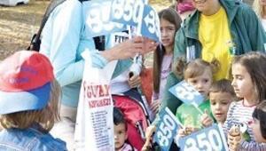 Çocuklar iklim için yürüdü
